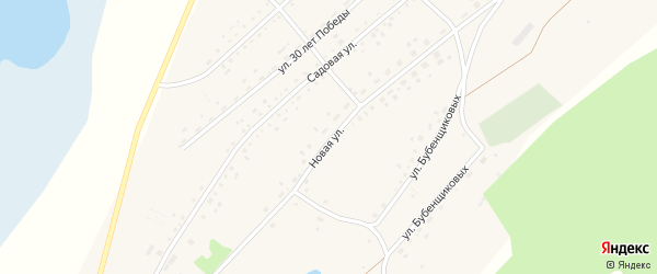 Новая улица на карте села Гуселетово с номерами домов