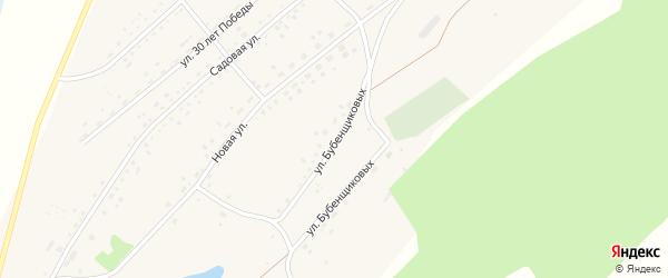 Улица Бубенщиковых на карте села Гуселетово с номерами домов
