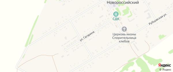 Улица Гагарина на карте Новороссийского поселка с номерами домов