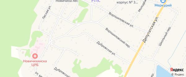 Дубровская улица на карте села Новичихи с номерами домов