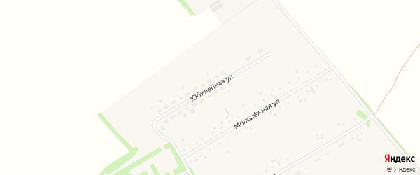 Юбилейная улица на карте Новороссийского поселка с номерами домов