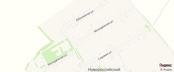 Молодежная улица на карте Новороссийского поселка с номерами домов