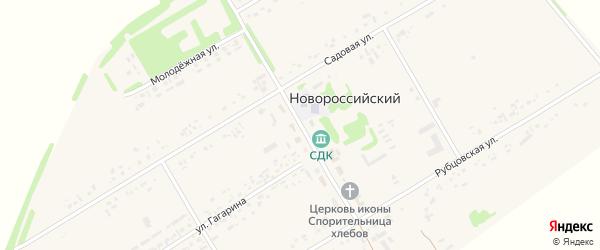 Центральный переулок на карте Новороссийского поселка с номерами домов