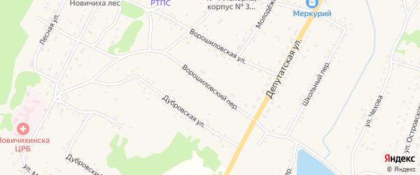Ворошиловский переулок на карте села Новичихи с номерами домов