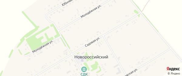 Садовая улица на карте садового некоммерческого товарищества N 18 с номерами домов