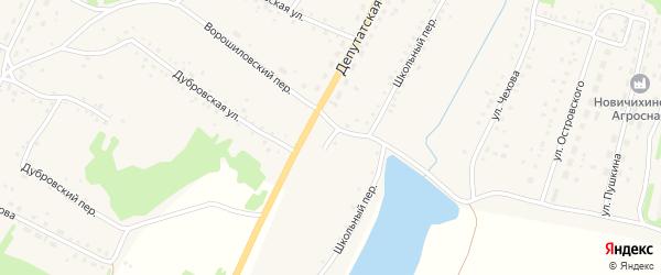 Степная улица на карте села Новичихи с номерами домов