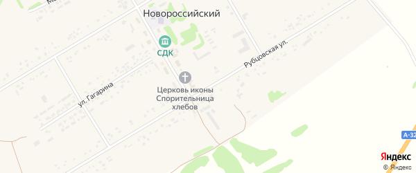 Рубцовская улица на карте Новороссийского поселка с номерами домов