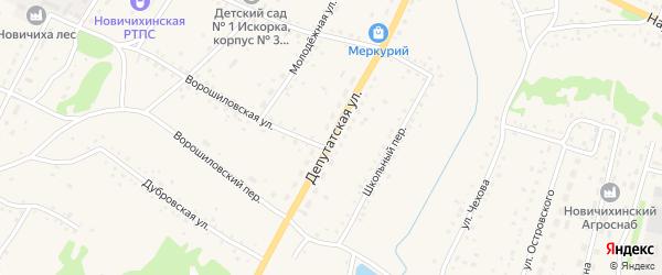 Депутатская улица на карте села Новичихи с номерами домов