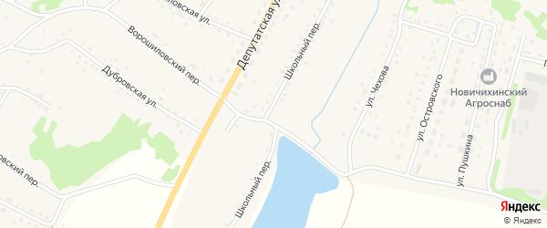 Школьный переулок на карте села Новичихи с номерами домов