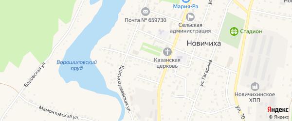 Улица 40 лет Победы на карте села Новичихи с номерами домов