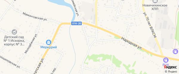 Народный переулок на карте села Новичихи с номерами домов