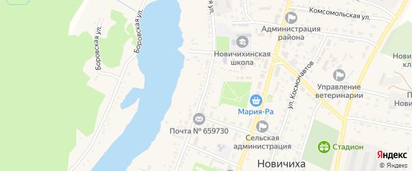 Красноармейская улица на карте села Новичихи с номерами домов