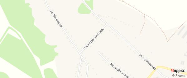 Партизанский переулок на карте села Солоновки с номерами домов