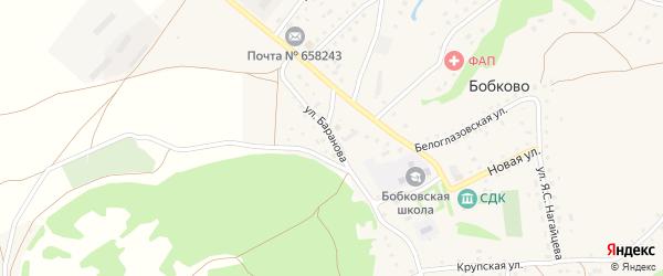 Улица Баранова на карте села Бобково с номерами домов