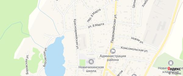 Юбилейная улица на карте села Новичихи с номерами домов