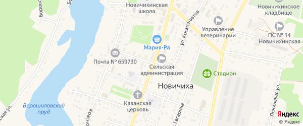 Первомайский переулок на карте села Новичихи с номерами домов