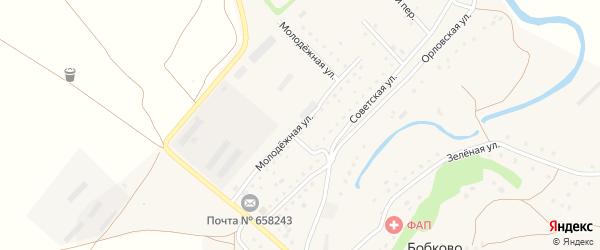 Молодежная улица на карте села Бобково с номерами домов