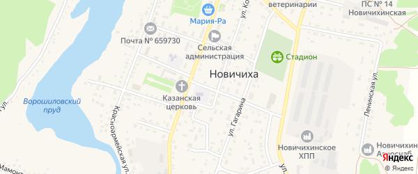 Аптечный переулок на карте села Новичихи с номерами домов