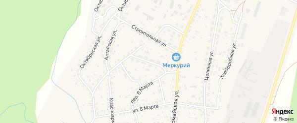 Профсоюзная улица на карте села Новичихи с номерами домов