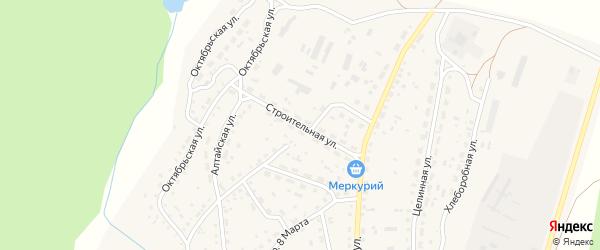 Строительная улица на карте села Новичихи с номерами домов