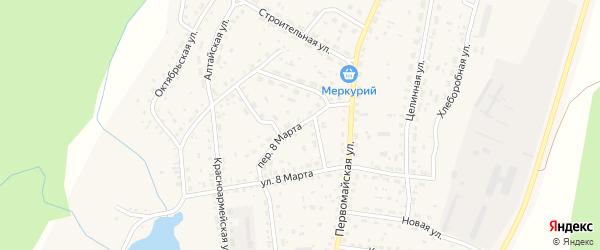 Переулок 8 Марта на карте села Новичихи с номерами домов