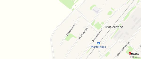 Западная улица на карте станции Мамонтово с номерами домов