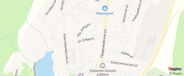Улица 8 Марта на карте села Новичихи с номерами домов