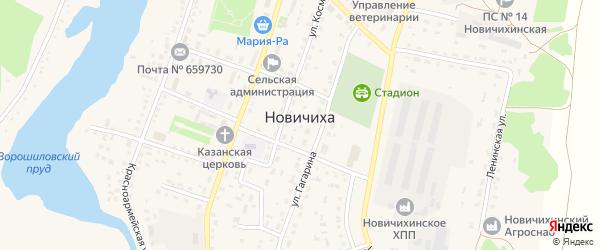Боровской переулок на карте села Новичихи с номерами домов