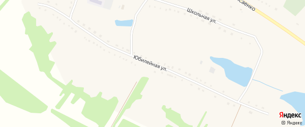 Юбилейная улица на карте села Солоновки с номерами домов