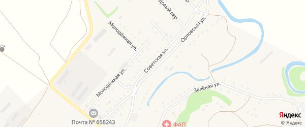 Советская улица на карте села Бобково с номерами домов