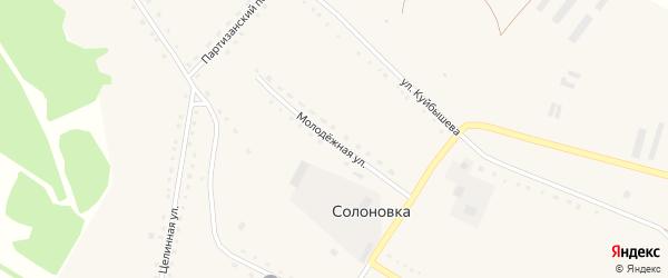 Молодежная улица на карте села Солоновки с номерами домов