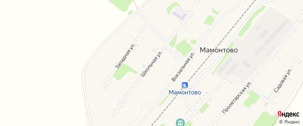 Школьная улица на карте станции Мамонтово с номерами домов