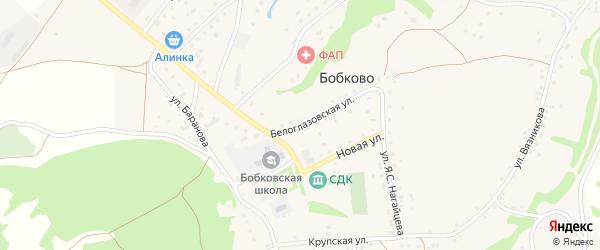 Белоглазовская улица на карте села Бобково с номерами домов
