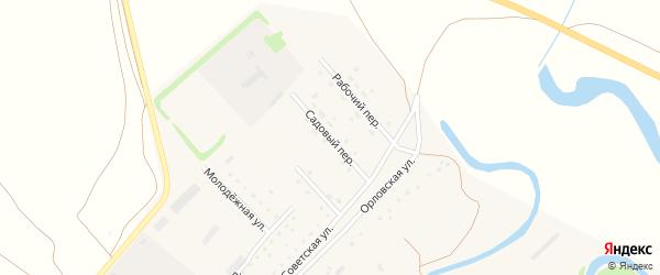 Садовый переулок на карте села Бобково с номерами домов