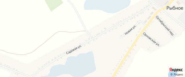 Садовая улица на карте Рыбного села с номерами домов