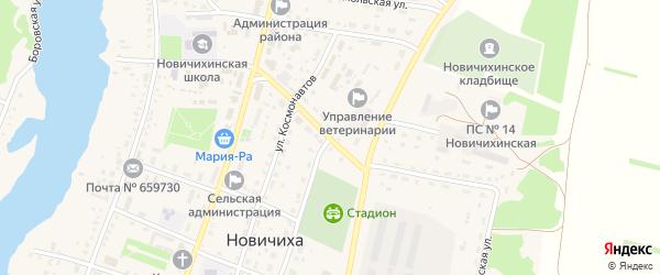 Ленинская улица на карте села Новичихи с номерами домов