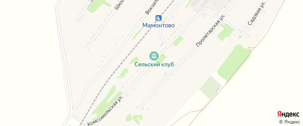 Комсомольская улица на карте станции Мамонтово с номерами домов