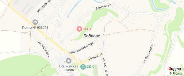 Красноборцовская улица на карте села Бобково с номерами домов