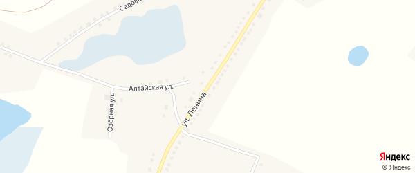 Улица Ленина на карте Рыбного села с номерами домов