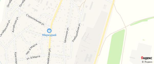 Хлеборобная улица на карте села Новичихи с номерами домов