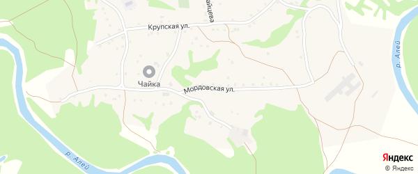 Мордовская улица на карте села Бобково с номерами домов