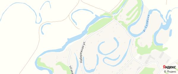 Набережная улица на карте села Новосклюихи с номерами домов