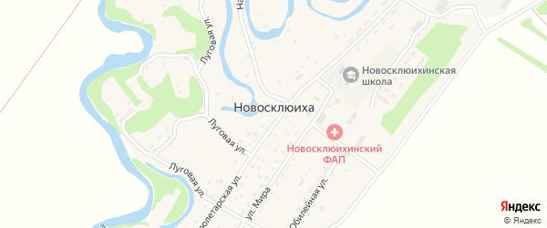 Территория Промплощадка Захаровского рудника на карте села Новосклюихи с номерами домов