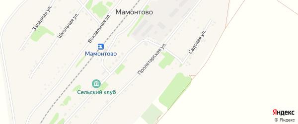 Пролетарская улица на карте станции Мамонтово с номерами домов