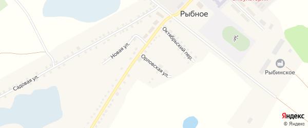 Орловская улица на карте Рыбного села с номерами домов