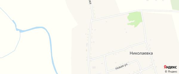 Улица Клочкова на карте села Николаевки с номерами домов