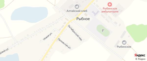 Комсомольская улица на карте Рыбного села с номерами домов