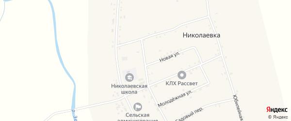 Комсомольский переулок на карте села Николаевки с номерами домов