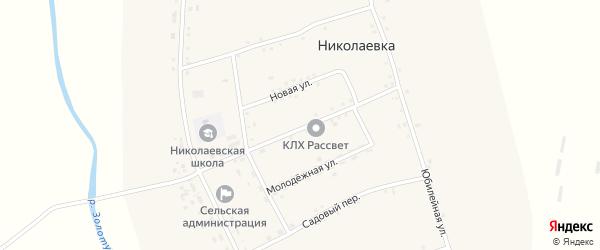 Центральный переулок на карте села Николаевки с номерами домов