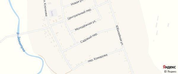 Садовый переулок на карте села Николаевки с номерами домов